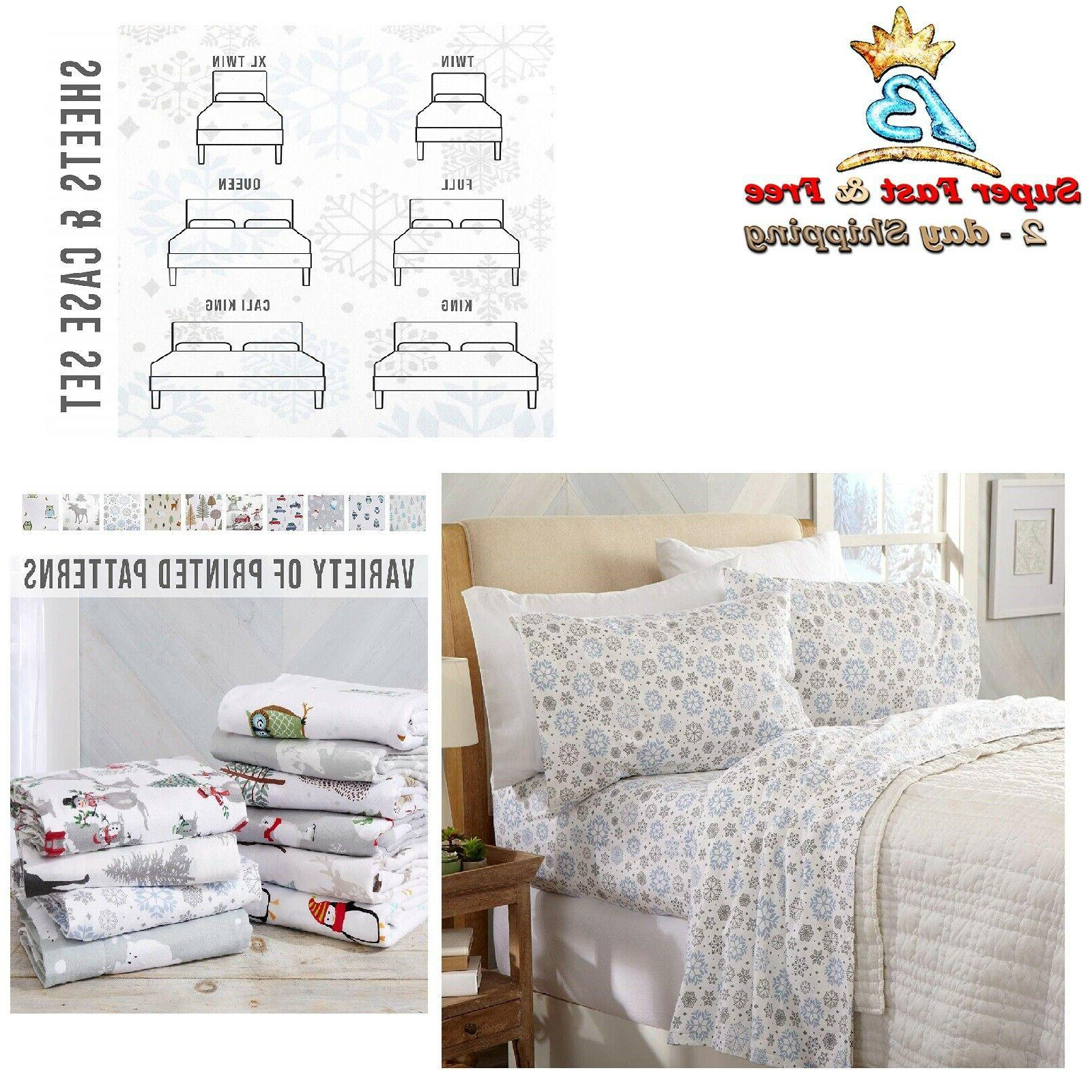 Warm Cozy Lightweight Luxury Winter Christmas Bed Sheets 100