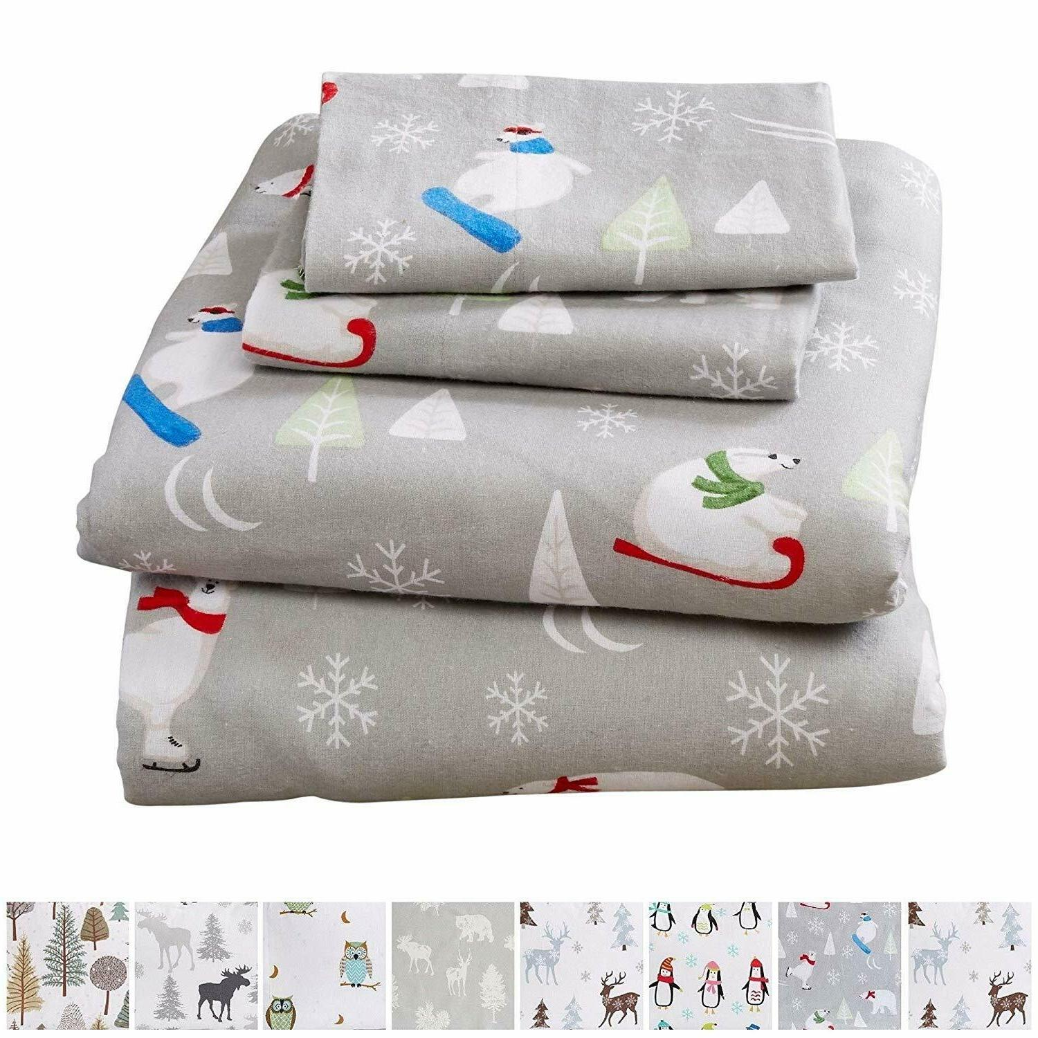 Warm Cozy Winter Christmas Sheets 100%