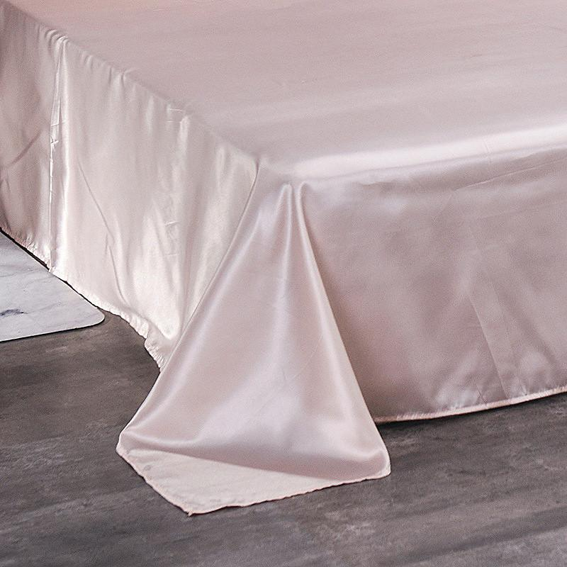 Wholesale Luxury Silk White 1PCS <font><b>Sheet</b></font> Queen <font><b>Bed</b></font> For Men