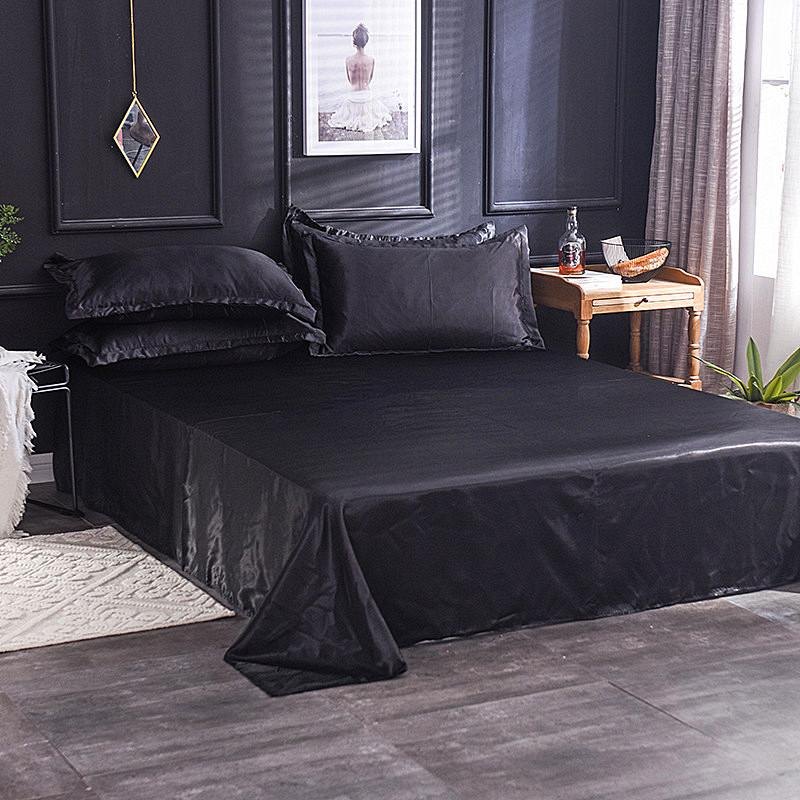 Wholesale Luxury 100% Silk White <font><b>Bed</b></font> For Men