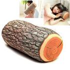 Design Natural Wood Log Throw Pillow Back Soft Cushion Car N