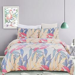 Vaulia Lightweight Microfiber Duvet Cover Set, Bright and Co