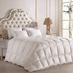 100% Hungary White Goose Down Queen Size Comforter 94x90 inc