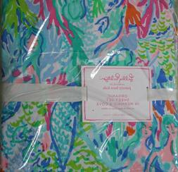 Lilly Pulitzer ~Sheet Set~TWIN~ Multi MERMAID COVE~Gorgeous