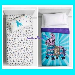 FORTNITE  LLAMA  Bedding Twin Comforter & Sheets ~ NEW Bed I