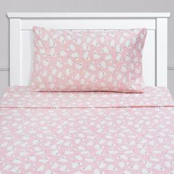 Llamas Kids Sheet Set Pink White Twin, Twin XL, Full