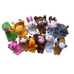 Lovely 12 Chinese Zodiac Animal Finger Puppets Set,Tosangn C