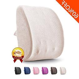 Lumbar Pillow Back Support Pillow 3D Memory Foam Breathable
