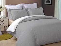 Kotton Culture Luxurious Reversible Duvet Cover With Zipper