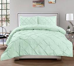 Sweet Home Collection 3 Piece Luxurious Pinch Pleat Decorati