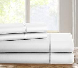 Chateau Home Luxury 500 Thread Count 100% Cotton Solid 4 Pie