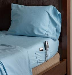 Speedy Sheets, Luxury BAMBOO, Attached-at-the-Bottom Sheets-