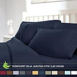 Luxury Bed Sheet Set - Soft MICRO SILK Sheets - King Size, N