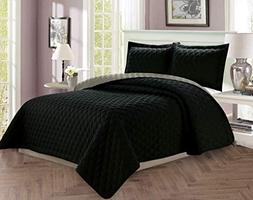 Elegant Comfort Luxury 3-Piece Bedspread Coverlet Diamond De