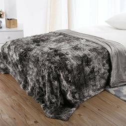 Luxury Faux Fur Bed Throw Blanket Super Soft Winter Fuzzy Co