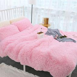Luxury Faux Fur Throw Bed Sheets set Sofa Plush Blanket with