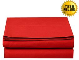 Elegant Comfort Luxury Flat Sheet Wrinkle-Free 1500 Thread C
