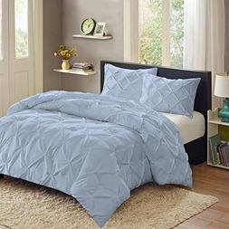 Sweet Home Collection 3 Piece Luxury Pinch Pleat Pintuck F