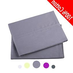 Balichun Luxury 2 Pack Queen Size Pillowcases -100% Quality