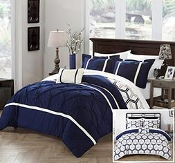 Chic Home Marcia 4 Piece Comforter Set Printed Pinch Pleated