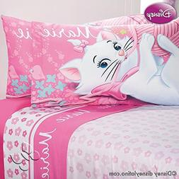 Marie Cat Disney Comforter Pink Bedspread Sheet Set Full/Mat