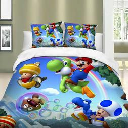Mario printed bed linen sets duvet cover luxury bed sheets b
