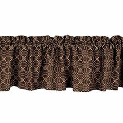 Home Collection by Raghu Marshfield Jacquard Black & Tan Val