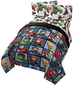 Jay Franco Marvel Avengers Team 4 Piece Twin Bed Set - Inclu