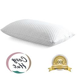 Cozy Hut Memory Foam Bed Pillow Sleeping Pillow Adjustable L