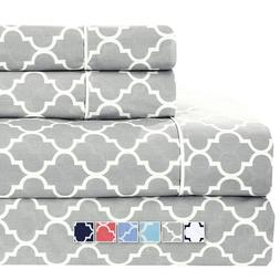 Brushed Percale Cotton Sheets 100% Cotton Printed Deep Pocke