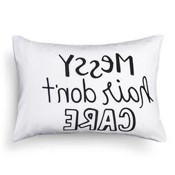 New Messy Hair Pillowcase Standard White ™