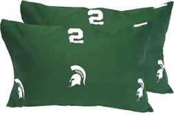 NCAA MICHIGAN STATE SPARTANS PILLOWCASES Cotton Pillow Cover