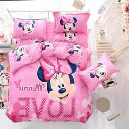 Mickey Mouse Bed Duvet Cover Set Kids Bedding Sheets Princes