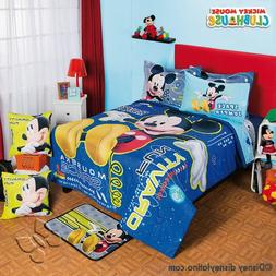 Mickey Mouse Disney Comforter Sheet Set Blue Boy Gift 9PC FU