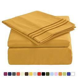 Merous Microfiber Bed Sheets Set - 100% Brushed 1800 Soft Hy