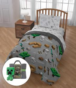 Minecraft Bedding Set Comforter Boy Twin Bed Bag Sheets Kids