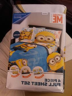 DESPICABLE ME~MINION MADE~FULL SIZE SHEET SET~NEW~1 FLAT/1 F