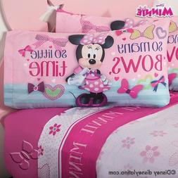 Minnie Mouse Disney Sheet Set FULL Clubhouse Bedroom Decorat