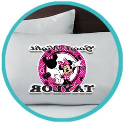 Minnie Mouse Merch Pillowcase Pillow Case Sheets Bedroom Bed