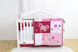 Linens and More Modern Luxury Quality 4 Piece Crib Bedding S