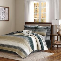 Seth Striped Complete Multiple Piece Coverlet Set  8-Piece -