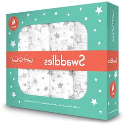 Muslin Swaddle Blankets - Set of 4 - 100% Premium Quality Br