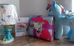My Little Pony 7 Pc Quilt + Sheets + Sham + Lamp Bed Set  ~