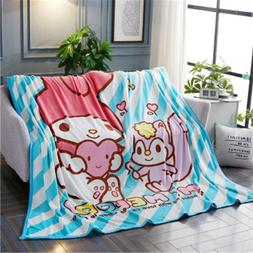 My Melody Blanket Bed Sofa Blanket Flannel Warm Plush Sheets