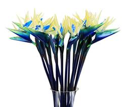 O&N 10 Pcs Mini Touch Blue Bird Of Paradise Fake Artificial