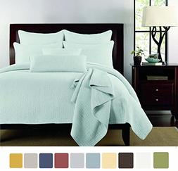 NC Home Fashions Channel quilted pattern solid color quilt s