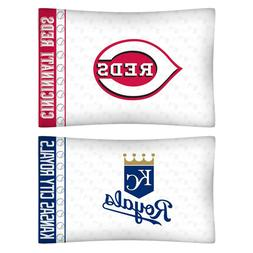 nEw 2pc MLB BASEBALL Logo PILLOWCASES - Decor Sports Team Be