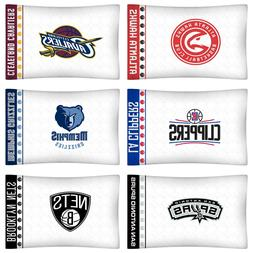 NBA BASKETBALL TEAM PILLOWCASE - Sports Logo Microfiber Pill