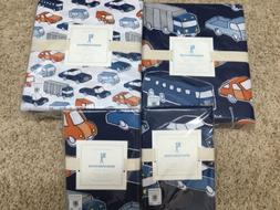 New 7pc Pottery Barn Kids Cars Queen Sheets Duvet Cover Two
