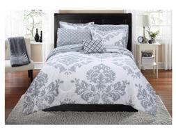 New 8 Piece Full Size Bed in a Bag Comforter Set Sheets Bedd